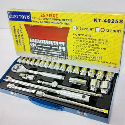 king toyo socket wrench set KT-4025s