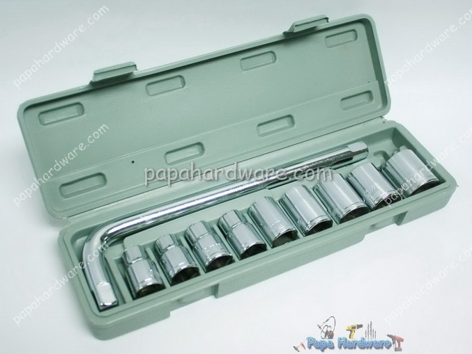 ABTools 11pcs Combination Socket Wrench Set