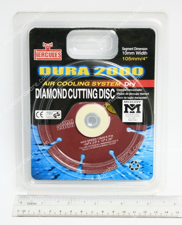 Hercules Dura 2000 Diamond Cutting Disc 4""