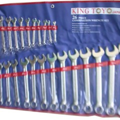 king toyo 26pcs combine spanner set
