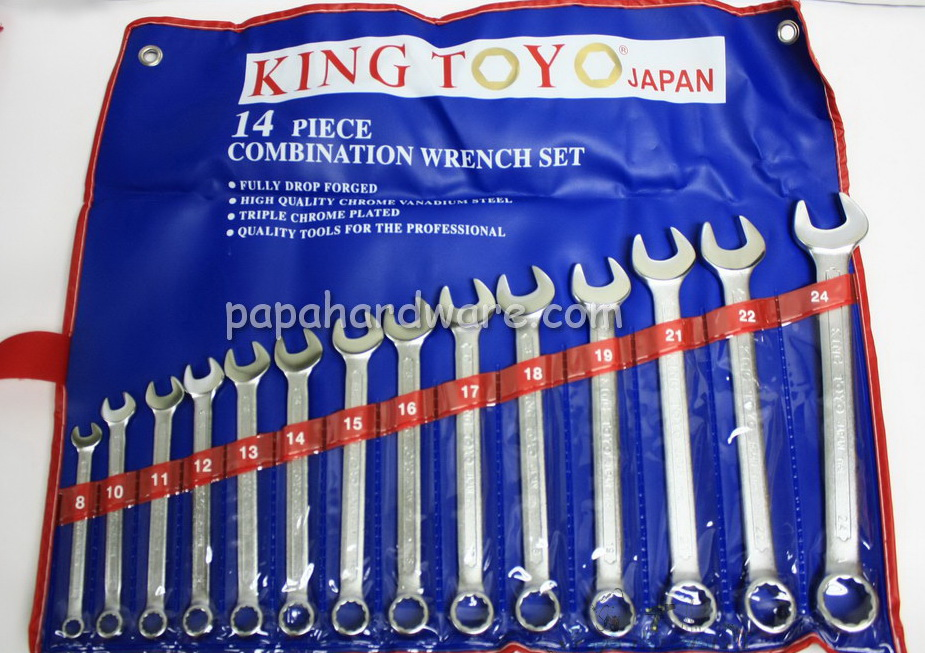 King Toyo Combination Wrench Set 8 to 24mm 14pcs